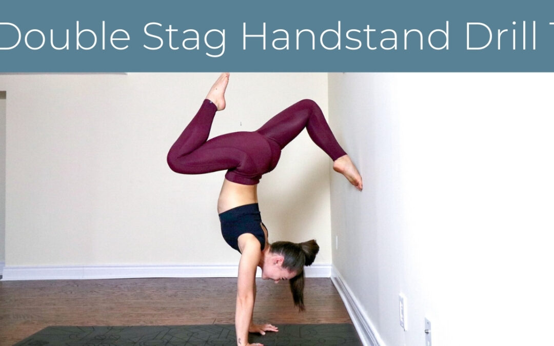 Double Stag Handstand Wall Drill 1